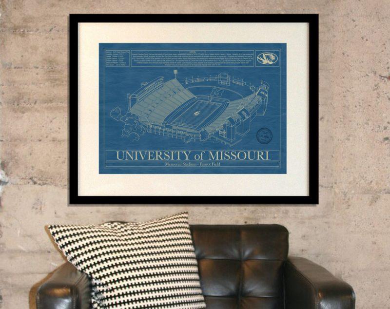 University of Missouri - Faurout Field at Memorial Stadium Blueprint