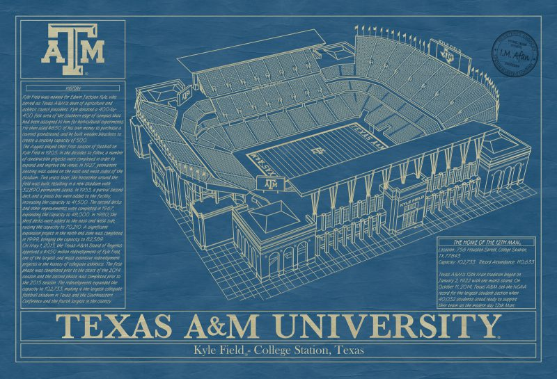 Texas A&M University - Kyle Field Blueprint