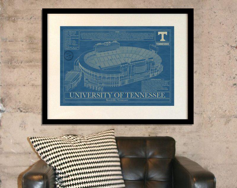 University of Tennessee - Neyland Stadium Blueprint