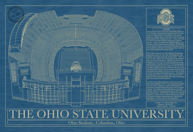 The Ohio State University - Ohio Stadium Blueprint
