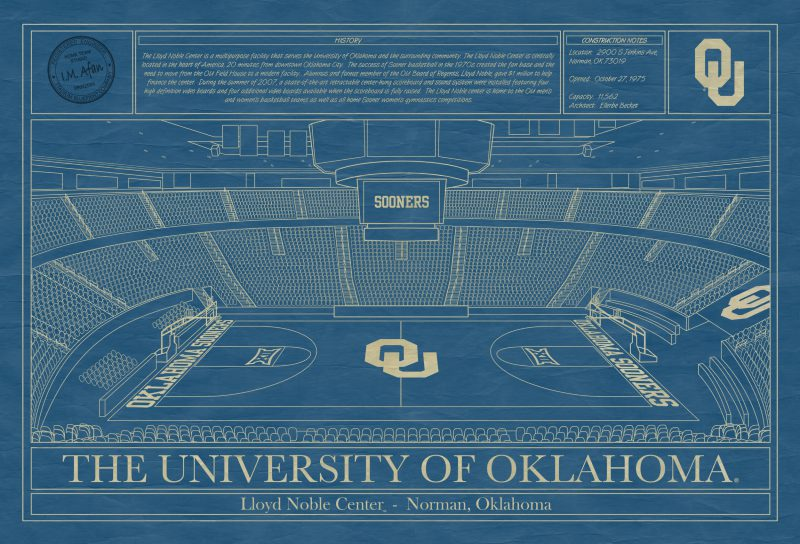 University of Oklahoma - Lloyd Noble Center Blueprint