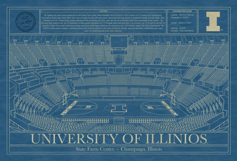 University of Illinois - State Farm Center Blueprint
