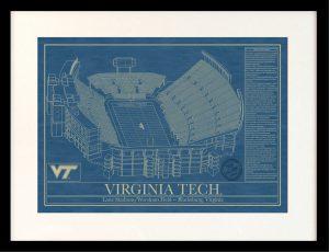 VIRGINIA_TECH_framed_blueprint_art