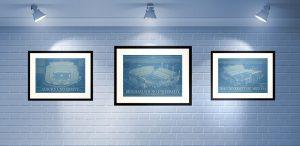 Framed_Blueprints_And_Wall_Art_Ideas